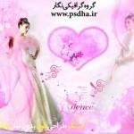 فون عروس و داماد آسیایی صورتی رنگ
