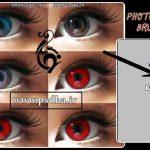 ویرایش شکل و رنگ چشم با براش Anime Character Eye