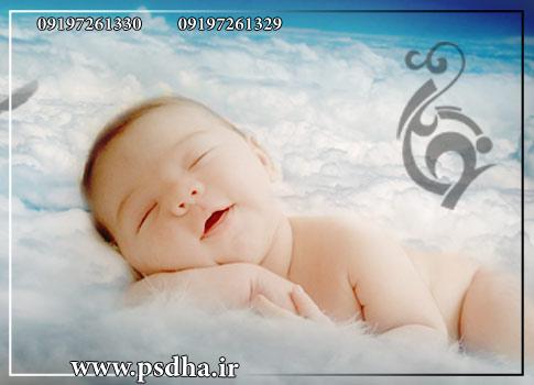 فون کودک روی ابر