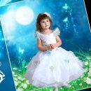 بکگراند لایه باز کودک رویای آبی
