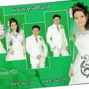 فون عروس و داماد با بکگراند سبز