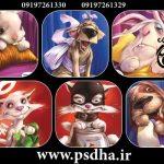 تصاویر شخصیت های کارتونی نقاشی شده