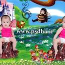 فون کودک در بک گراند کارتونی