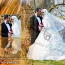 فون عروس و داماد در باغ