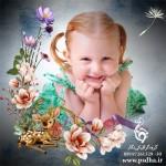 فون کودک با فریم گل های مینیاتوری 887