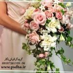 دسته گل عروس با گل های متنوع
