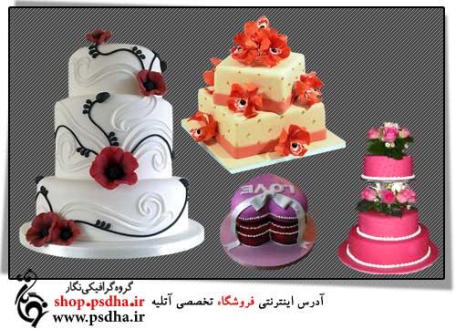 فایل لایه باز کیک تولد