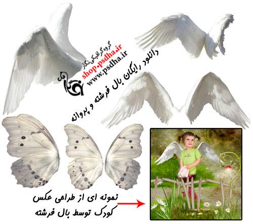 طرح لایه باز از فرشته و پروانه