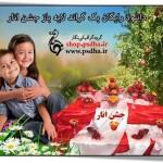 بک گراند عکس کودک جشن انار