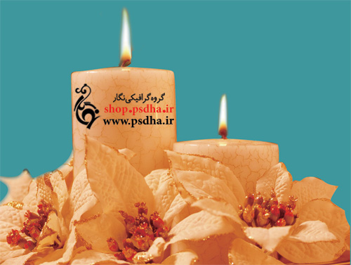 Burning Candle PSD