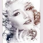 فایل لایه باز افکت نقاشی برای عکس