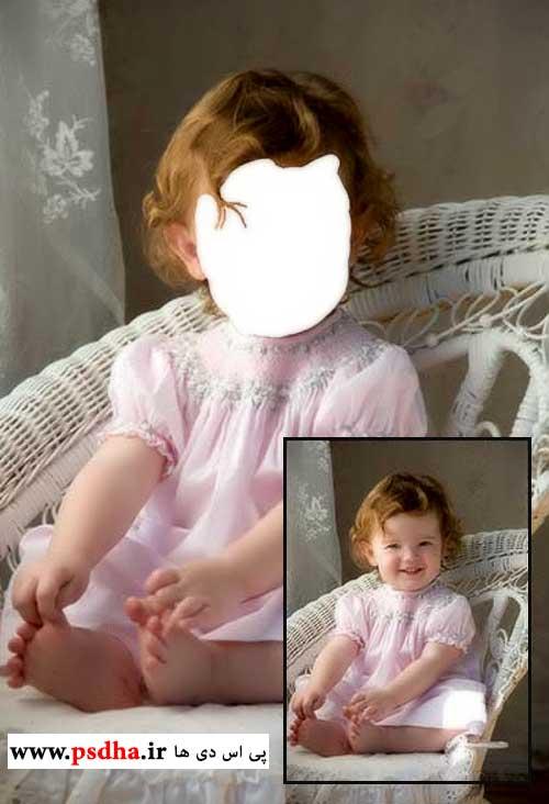 دانلود مونتاژ عکس صورت کودک با فون کاستوم