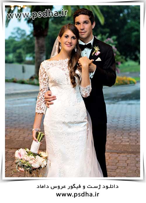 دانلود ژست و فیگور عروس و داماد
