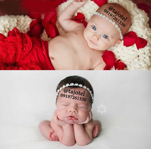 پیشانی بند نوزاد برای عکاسی