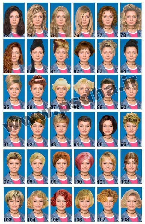 فایل لایه باز مدل های موی زنانه