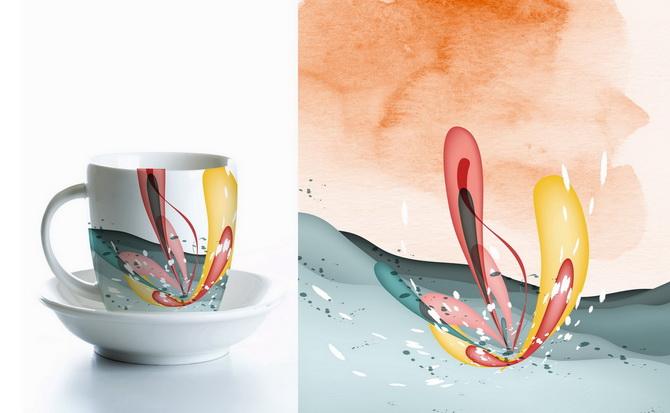 دانلود نقش و نگار لایه باز برای طراحی ظرف