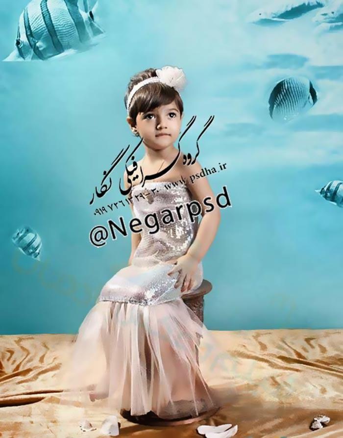 دانلود رایگان بک گراند کودک آکواریوم ماهی