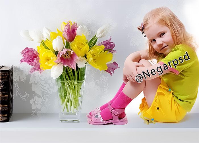 دانلود رایگان بک گراند عکس کودک psd