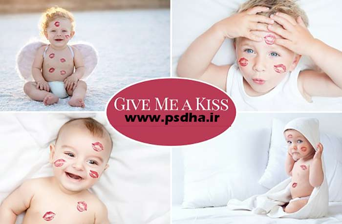 افکت بوسه و لب مخصوص عکس آتلیه عروس و کودک