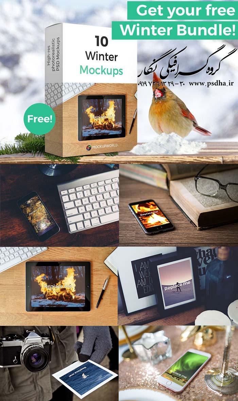 دانلود رایگان 10 موکاپ psd زیبا از موبایل و تبلت