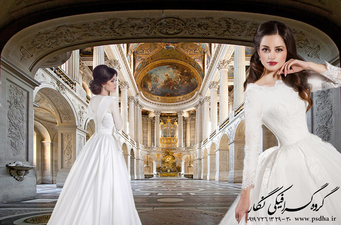 بک گراند آتلیه عروس
