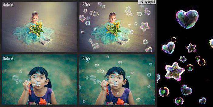 دانلود حباب برای طراحی عکس به شکل حیوان