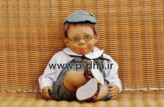 بک گراند دکور آتلیه با عروسک های مختلف