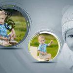 دانلود بک گراند عکس کودک بصورت آلبوم دیجیتال پی اس دی