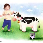 دانلود رایگان بک گراند لایه باز کودک به سبک نقاشی