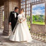 بك گراند باغ با كيفيت عالی برای طراحی عکس عروسی
