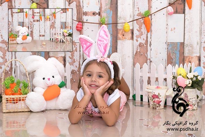 بک گراند دکور آتلیه برای طراحی عکس کودک