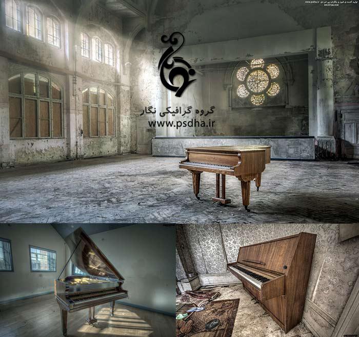 دانلود پس زمینه پیانو برای طراحی عکس