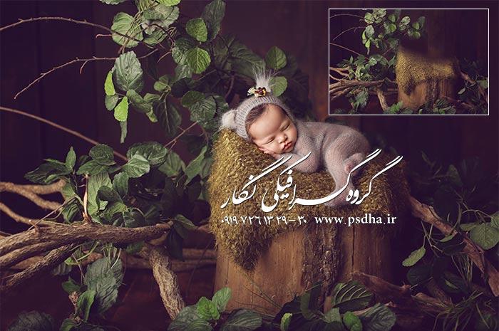 بکگراند آتلیه عکس کودک و نوزاد با کیفیت
