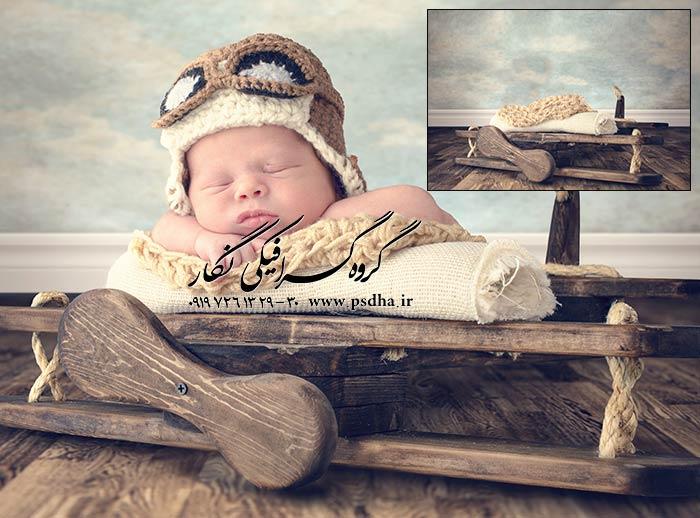 بکگراند دکور آتلیه عکس کودک و نوزاد
