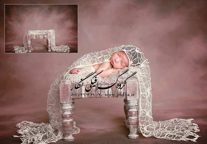 پس زمینه دکور آتلیه کودک و نوزاد