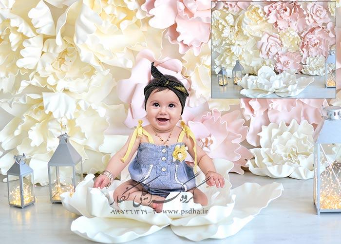 دانلود بک گراند دکور عکس نوزاد و کودک