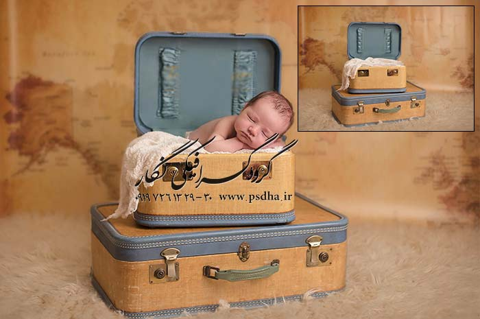 پس زمینه عکس آتلیه کودک و نوزاد