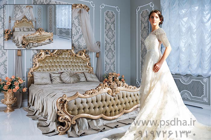 بک گراند عکس عروس و داماد برای طراحی