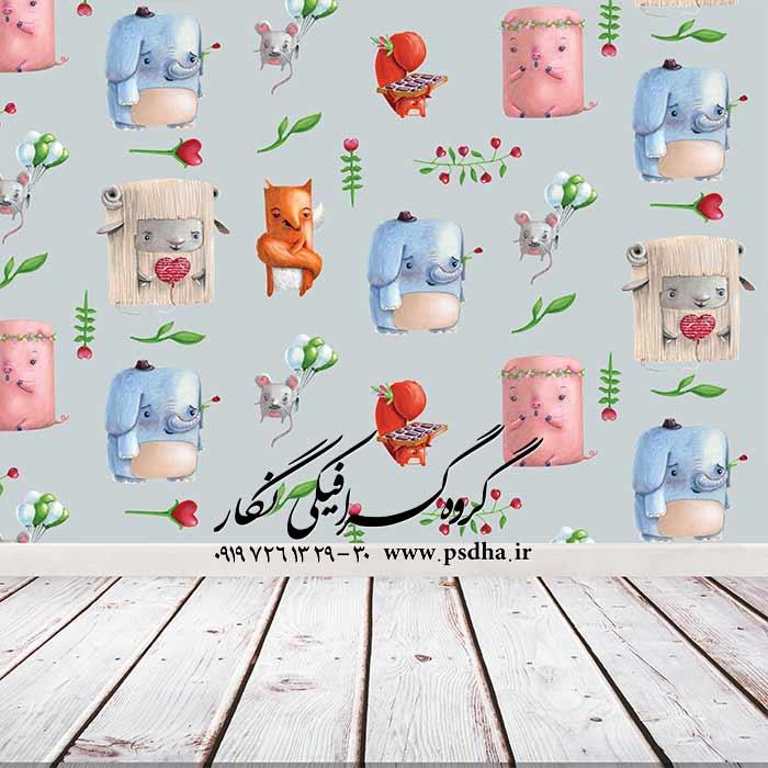دانلود بک گراند کاغذ دیواری کودک