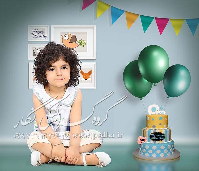 بک گراند لایه باز کودک با دکور های مختلف