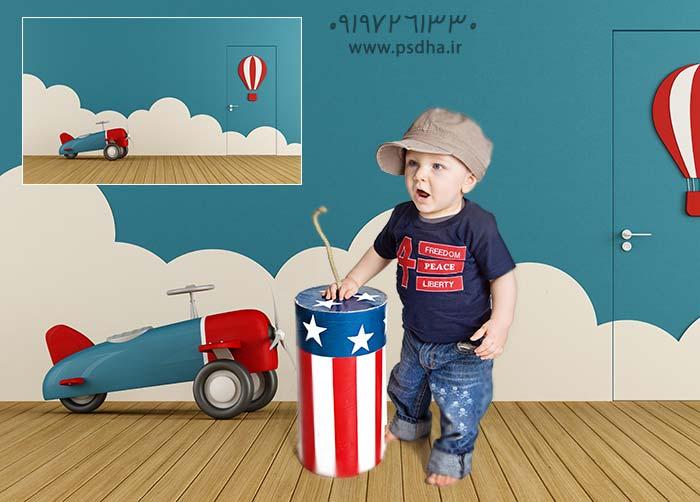 بک گراند آتلیه ای عکس کودک