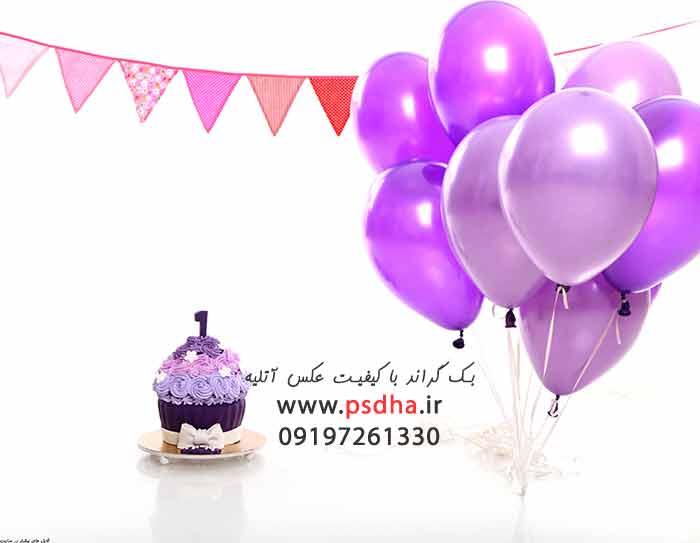 بک گراند جشن تولد با کیفیت عالی برای عکس