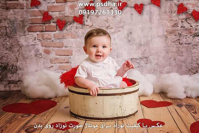 عکس با کیفیت نوزاد برای طراحی سر نوزاد