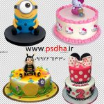 عکس با کیفیت کیک تولد بصورت دوربر شده کد 3539