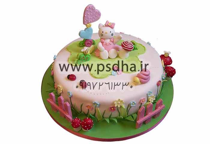 عکس با کیفیت کیک تولد بصورت دوربر شده