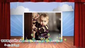 پروژه استارت افتر افکت مهد کودک با استیج و پرده سینما