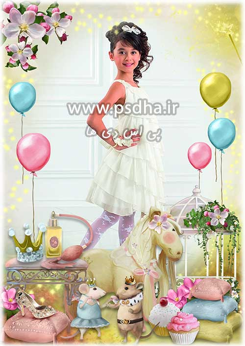 دانلود بک گراند فریم عکس تولد کودک
