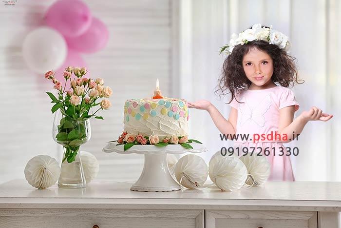 بک گراند تولد برای طراحی عکس کودک