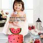 دانلود بک گراند عکس یلدا با کیک هندوانه کد 3792