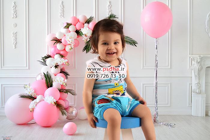بک گراند تولد برای فتوشاپ عکس کودک